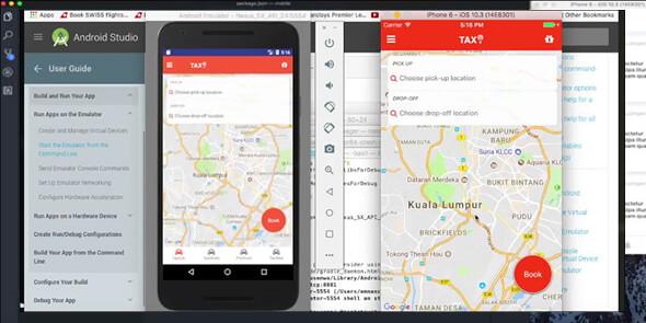 Aplikasi Memesan Taksi atau Mobil