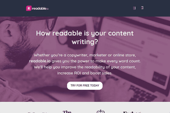 Readability and keyword density analysis - readable.io