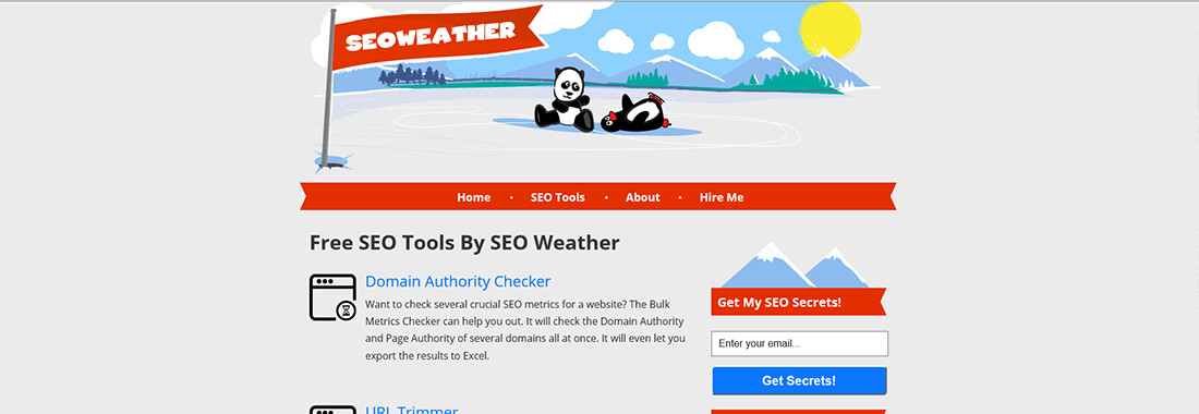 SEO Weather's Bulk Metrics Checker