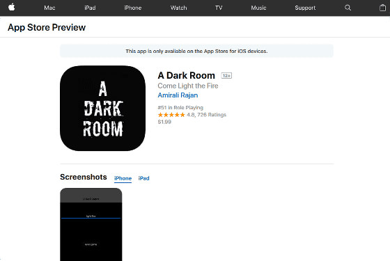 A Dark Room on the App Store