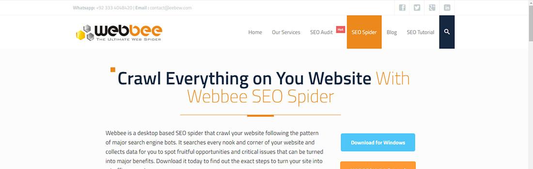 Webbee SEO Spider Tool