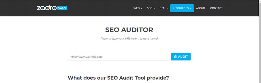 Zadroweb SEO Auditor