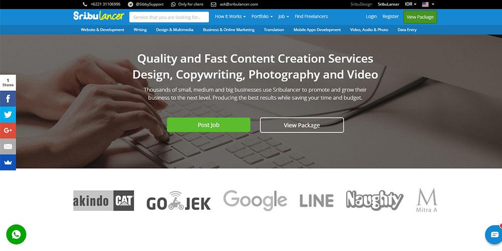 Website Freelance Indonesia Terpercaya & Banyak Digunakan