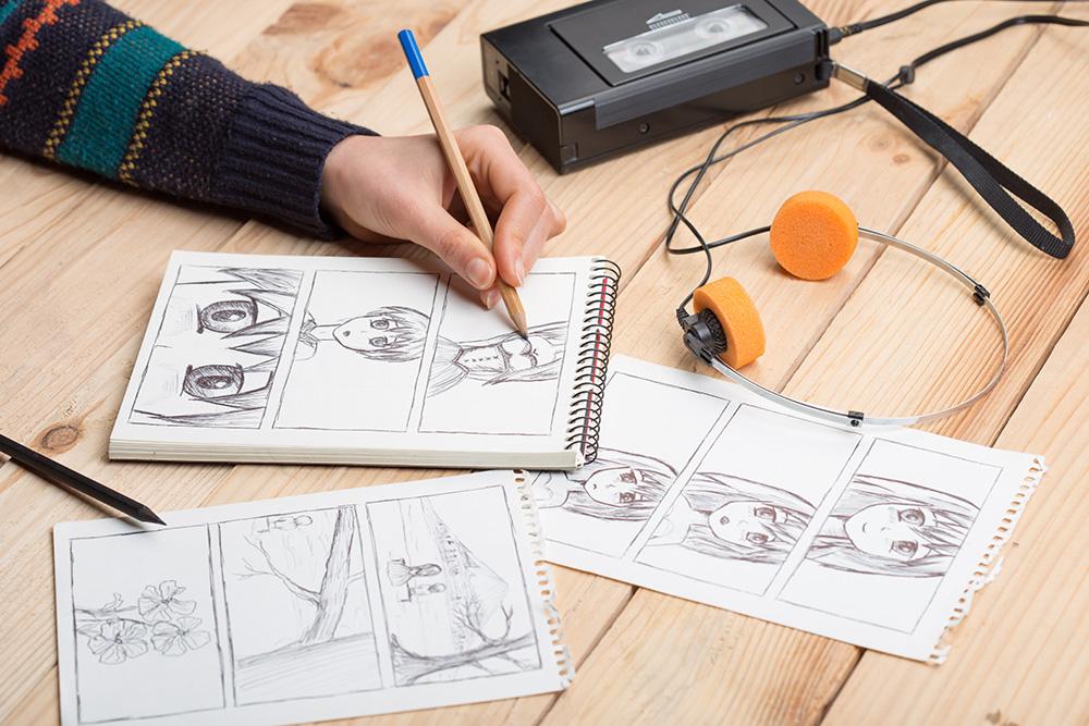 cara-menggambar-anime